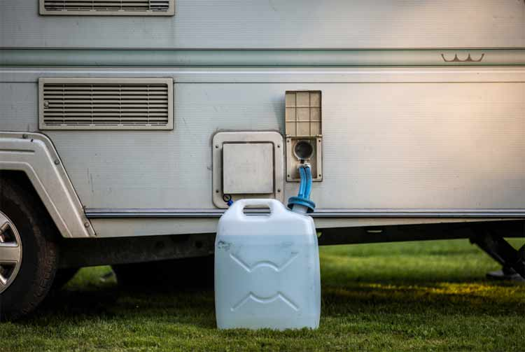 how to clean RV water tank