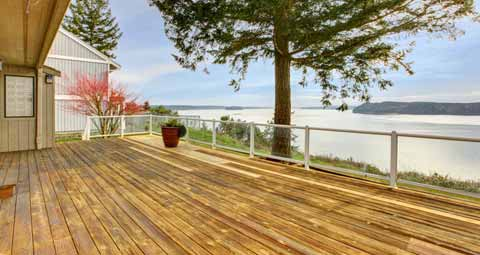 Glass Railing for a Deck